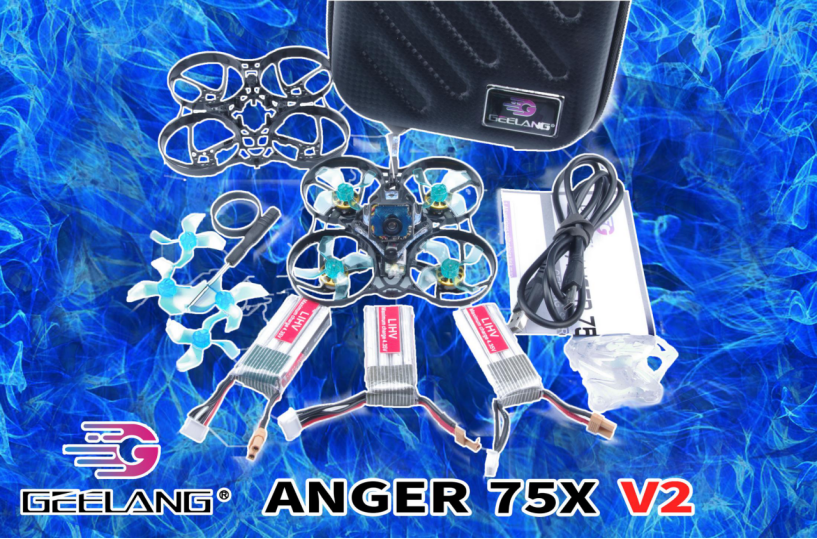 Geelang Anger 75X 75mm 4S Whoop FPV Racing Drone wGL950PRO FPV Camera (V2 Edition)