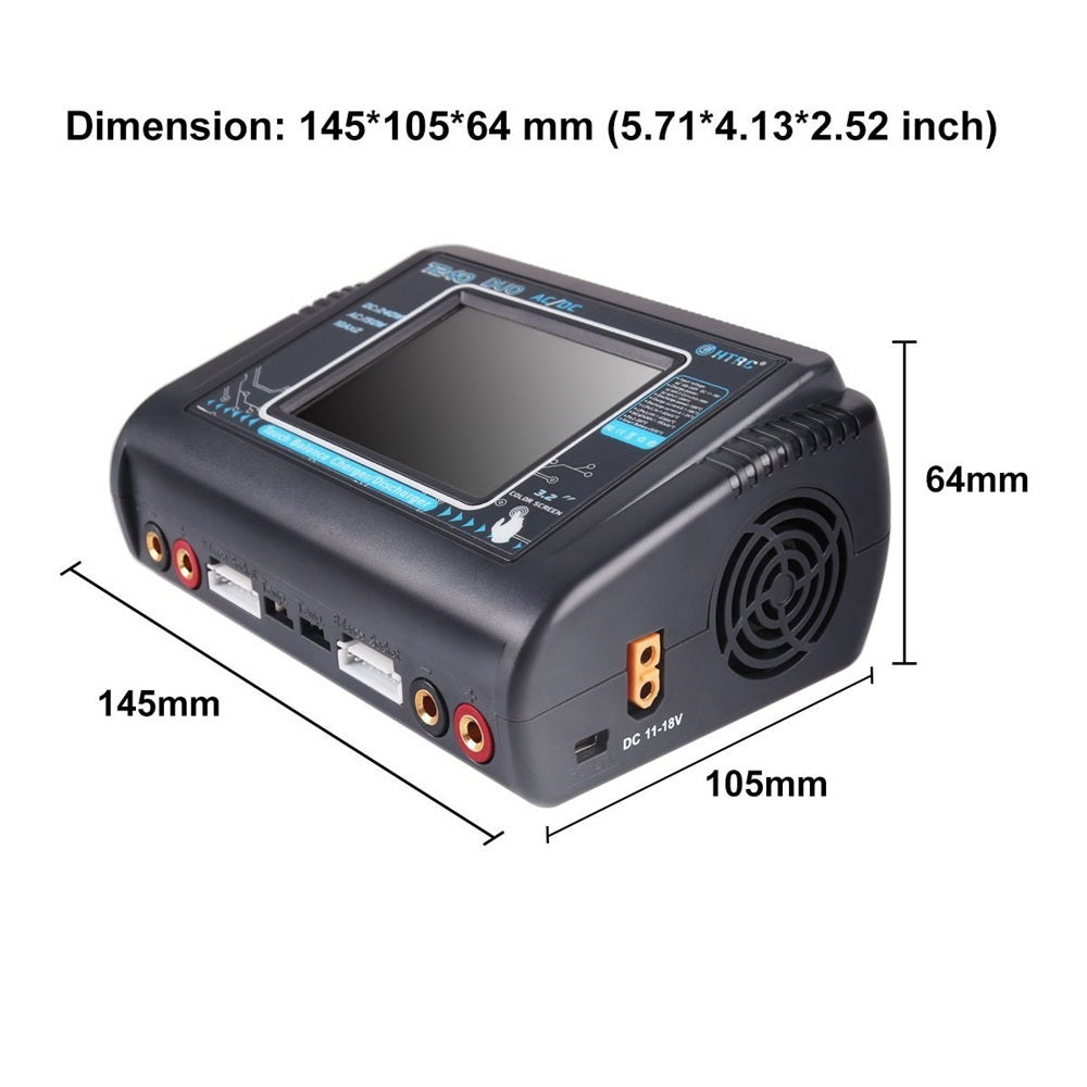 HTRC T240 LiPo Charger AC/DC 150W/240W Dual Balance Charger AC DC