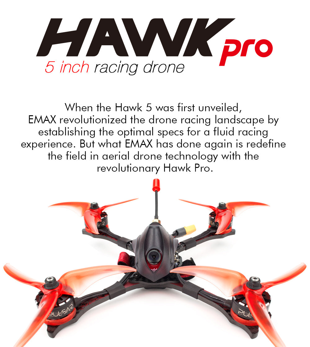 Emax Yinyan Hawk Pro 5-inch machine BNF version Pulsar 2306 2400KV Support 4S