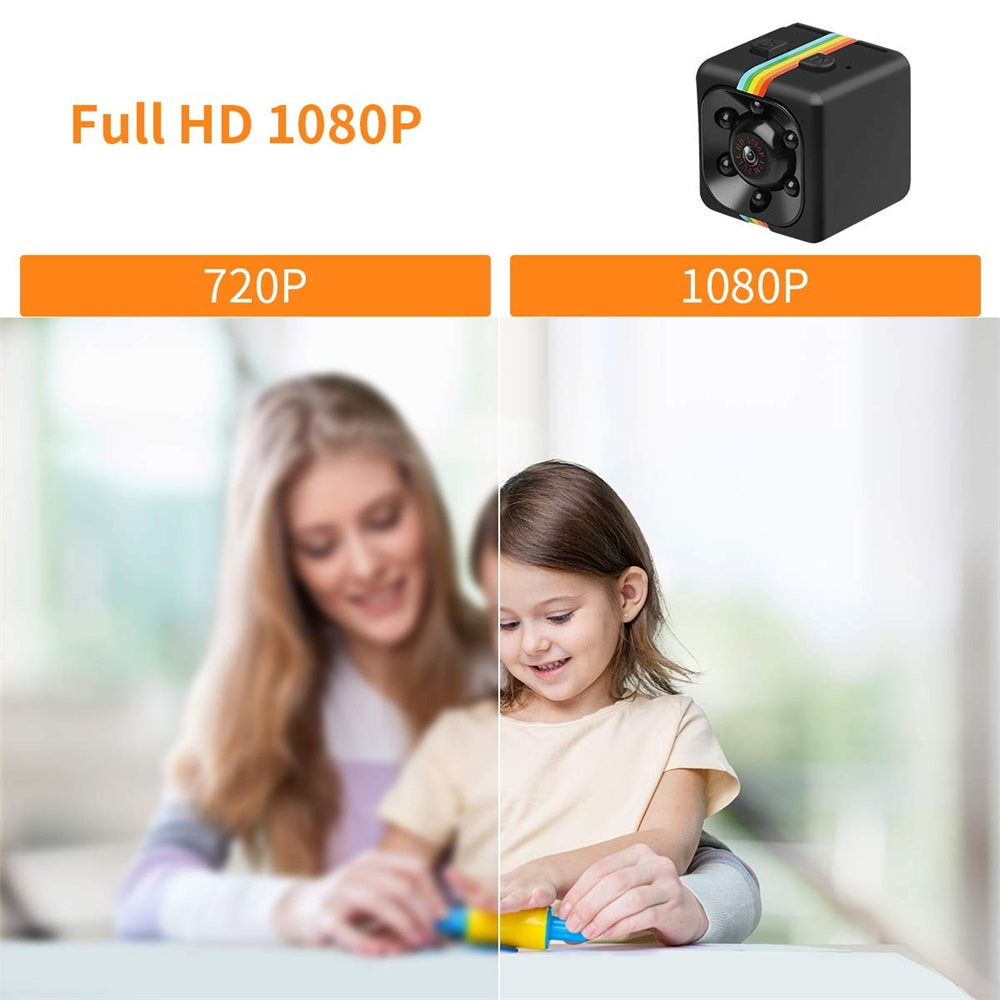 Mini Spy Camera,1080P Hidden Camera Cop Cam with IR Night Vision and Motion Detection