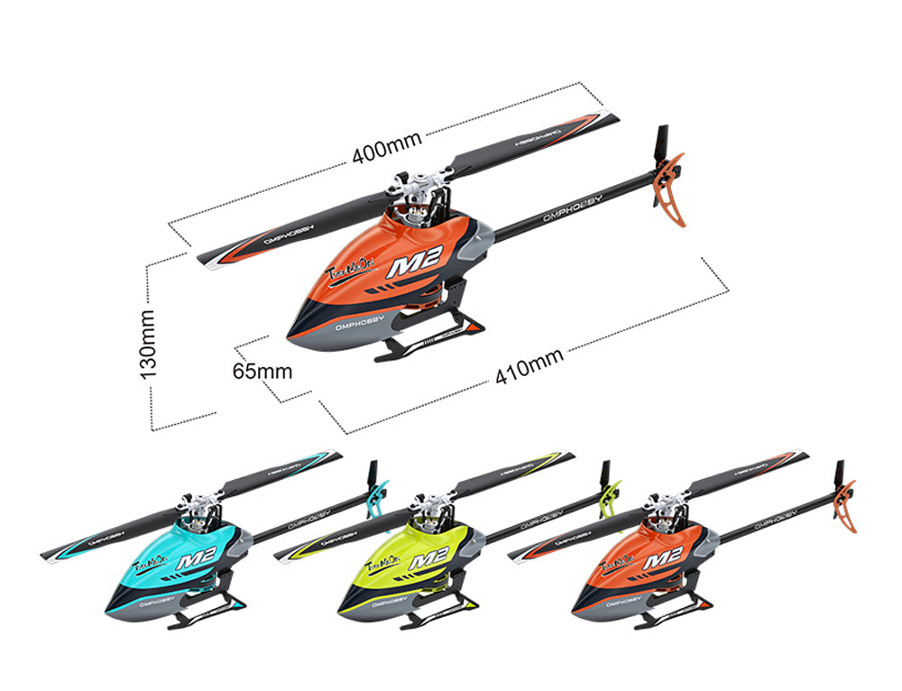 OMPHOBBY M2 Dual-Brushless Motor Direct-Drive 3D Helicopter-BNF