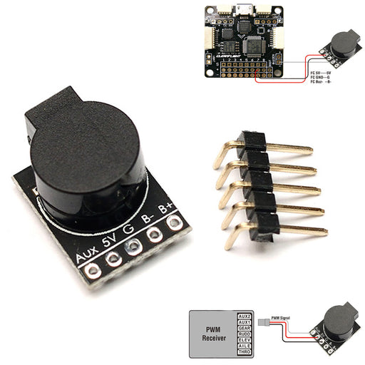 Matek 90dB Lost Model Beeper Flight Controller 5V Loud Buzzer Built-in MCU for FPV RC Quadcopter