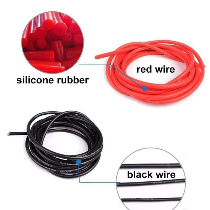 10 Gauge Silicone Wire Battery Electrical Cable (2.5 Meters Black and 2.5 Meters Red)