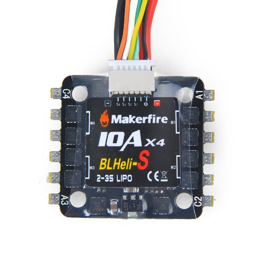 Makerfire BLHeli-S 4in1 10A ESC 2-3s Lipo Electric Speed Controller Support Oneshot Multishot Dshot