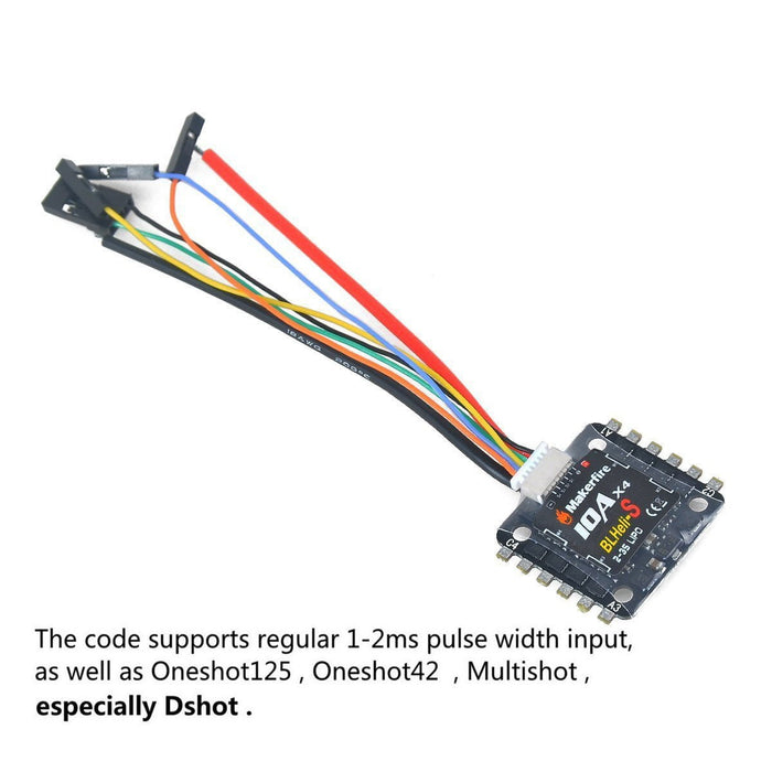 BLHeli-S 4in1 10A ESC 2-3s Lipo Electric Sd Controller Support Oneshot on