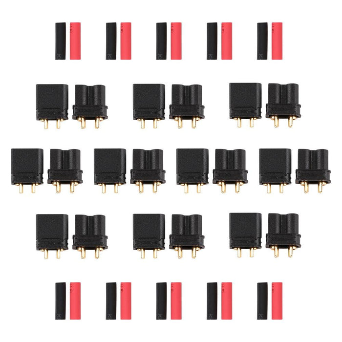 10Pairs Upgraded Amass XT30 XT30-U Male Female Connectors Power Battery Plugs with Heat Shrink