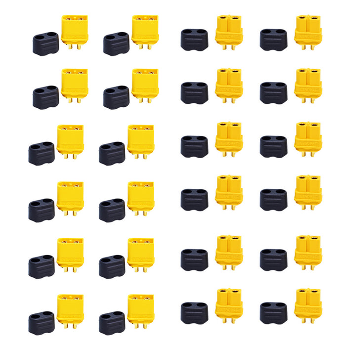 12 Pairs XT60H Connectors Plug Upgrated of XT60 Sheath Female and Male Connector For RC Model and More