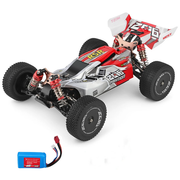 Wltoys 144001 1/14 2.4G 4WD High Speed Racing RC Car Vehicle Models 60km/h One Battery