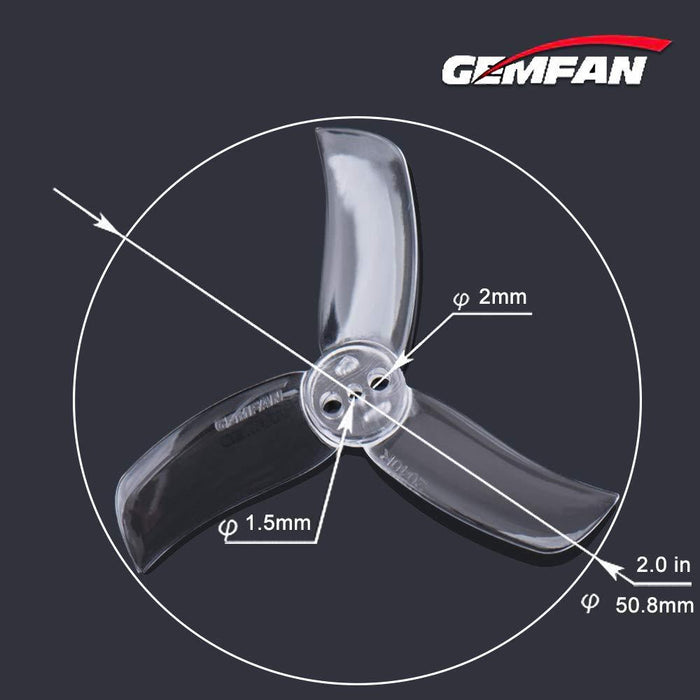 16pcs Gemfan 2040 3-Blade Propellers 2.0 Inch Triblade Props