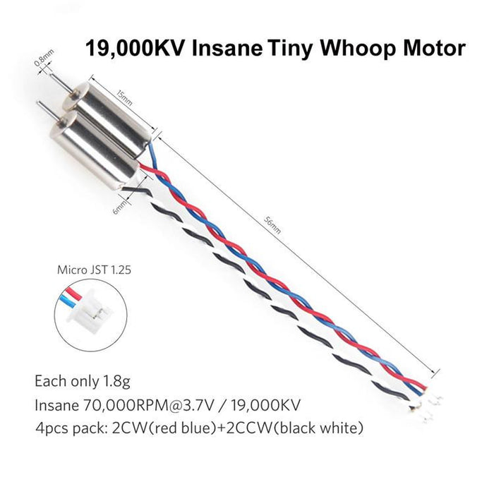 Crazepony 4pcs 6x15mm 615 Motor 19000KV for Blade Inductrix Tiny Whoop Micro JST 1.25 Plug