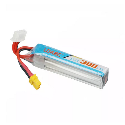 KINGKONG/LDARC 11.4V 3S 300mAh 30C Lipo Battery XT30 Plug 65.7*11.6*19.2mm for ET75 AK103 AK123