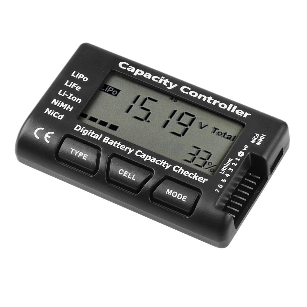 Digital Battery Capacity Voltage Checker Controller Tester with LCD for LiPo LiFe Li-ion NiMH Battery