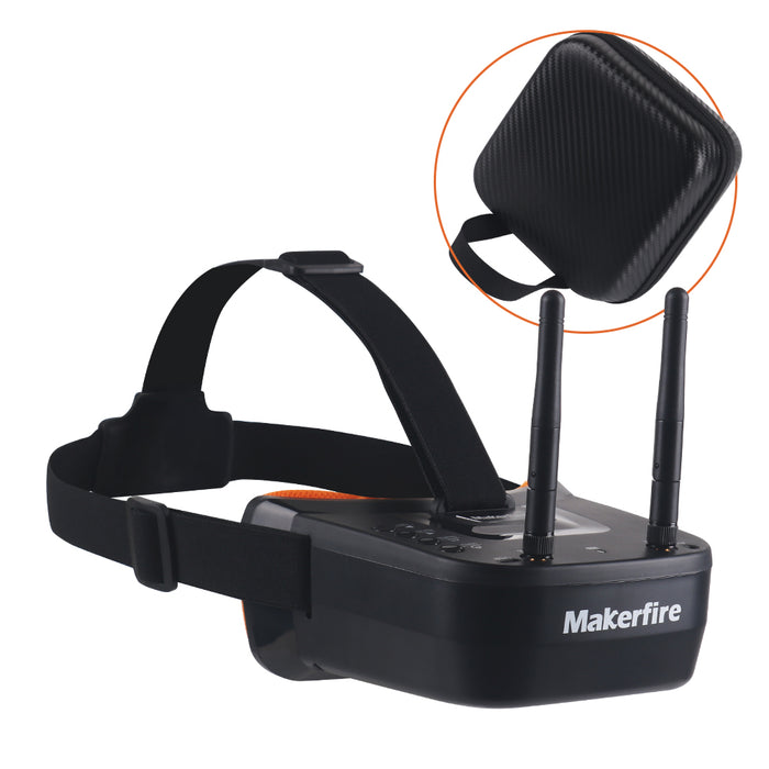 Makerfire VR007 Pro Mini FPV Goggles Support AV signal output (Connect external DVR)