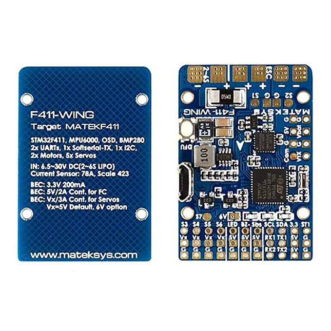 Matek F411-WING Flight Controller F4 FC Built-in OSD BEC & Current Sensor on Board for RC FPV Racing Drone