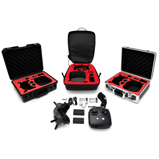 Portable Aluminum Case for DJI FPV System Portable Safety Box Hard Shell Backpack Waterproof
