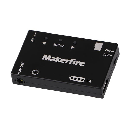Makerfire Mini FPV DVR Module Built-in Battery Supports Playback and AV Signal Output