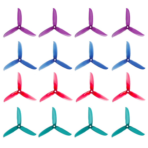 "16pcs DALPROP T5249C 5.2""3-Blades CW CCW Tri-Blade Propeller for FPV Racing Drone Quadcopter"