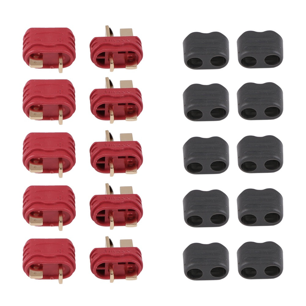 20 Pcs Upgraded T Plug Connectors Deans Style with Protection Cover