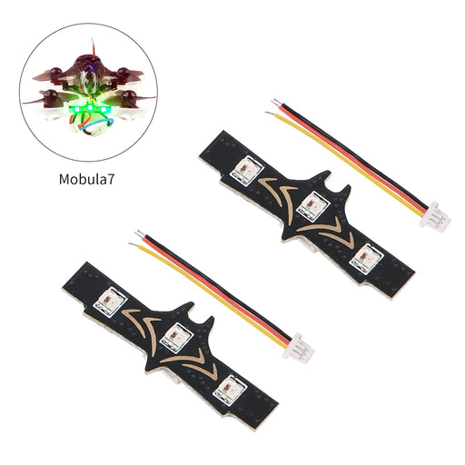 2PCS LED Night Light Strip Programmable Betaflight for Happymodel Mobula7 RC Drone FPV Racing