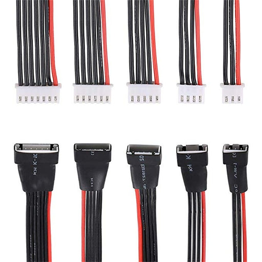 Makerfire 5PCS JST-XH 2S 3S 4S 5S 6S LiPo Battery Balance Charger Extension Cable(22AWG)