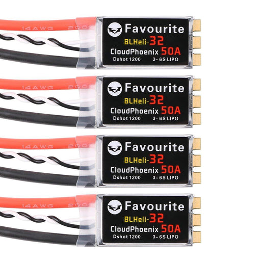 Favourite BLHeli-32 CloudPhoenix 50A ESC Supports Dshot 1200 and 3-6s LiPo