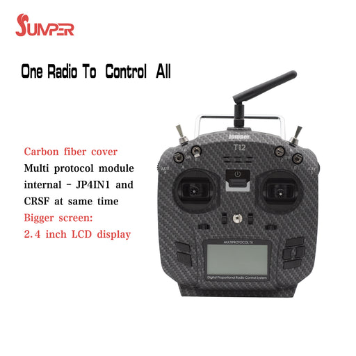 Newest Jumper T12 Pro including JP4in1 Internal Module with TBS CRSF Hall Gimbal OpenTX Multi-Protocol Transmitter