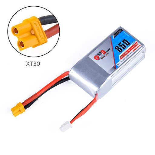 GNB 850mAh LiPo Battery 3S 80C 11.1V XT30 Connector 16AWG for FPV Racing Drone