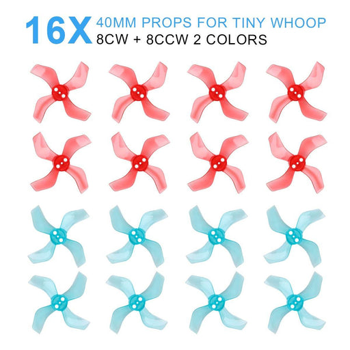 Gemfan 40mm 4-Blade 1636  Props 1mm 1.5mm hole for 1103 1105 RC Drone FPV Racing Brushless Motor