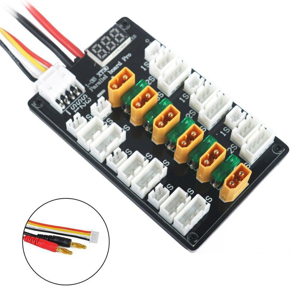 XT30 1-3S LED Parallel Charging Board
