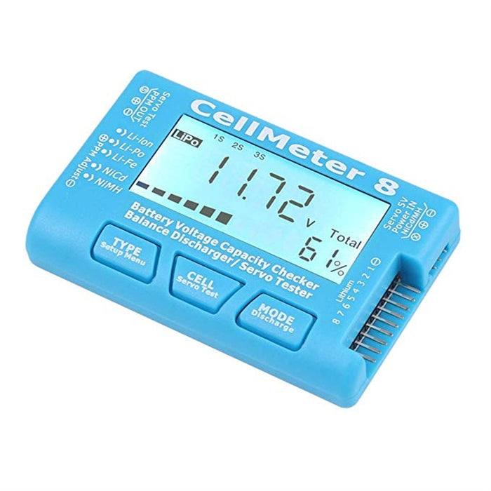 Digital RC Battery Capacity Tester Battery Voltage Checker Balance Discharge Servo Tester