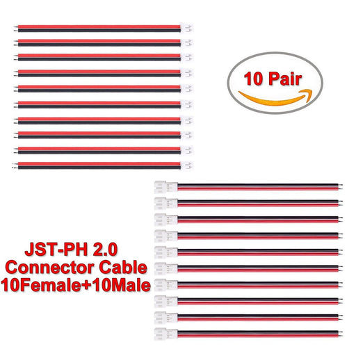 Upgraded Tiny Whoop JST-PH 2.0 PowerWhoop mCPX Female Male Connector Cable 80mm
