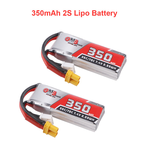 2PCS GAONENG 350mAh 2S HV Lipo Battery 80C 7.6V with XT30 Plug for  Brushless Drone
