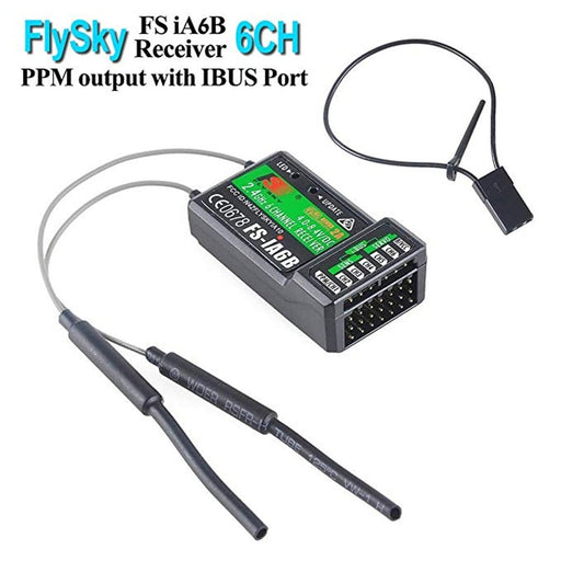 Flysky FS-iA6B Receiver 6CH PPM Output with iBus Port Compatible with Flysky i4 i6 i10 Transmitter
