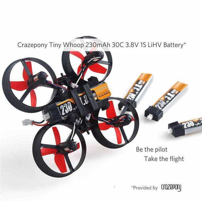 4pcs 230mAh HV 1S Lipo Battery 30C 3.8V Micro JST 1.25 Connector for Tiny Whoop
