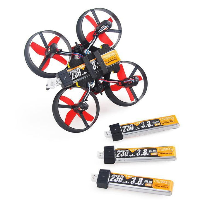 4pcs 230mAh HV 1S Lipo Battery 30C 3.8V JST-PH 2.0 Connector for Tiny Whoop Blade Inductrix