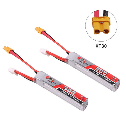 1Pair GNB 300mAh HV LiPo Battery 3S 30C/60C 11.4V XT30 Connector