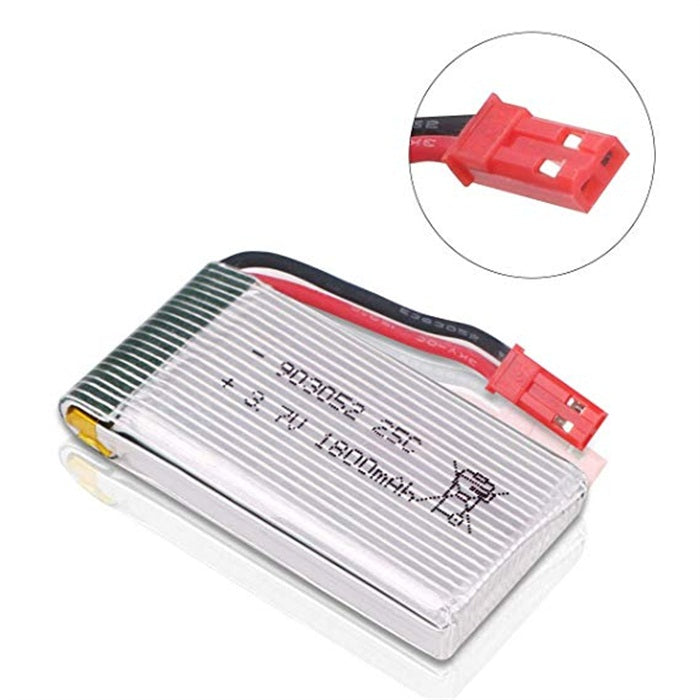 Crazepony-UK 3.7V 1800mah Lipo Battery 25C JST Plug with USB Charger  for RC Quadcopter Drone