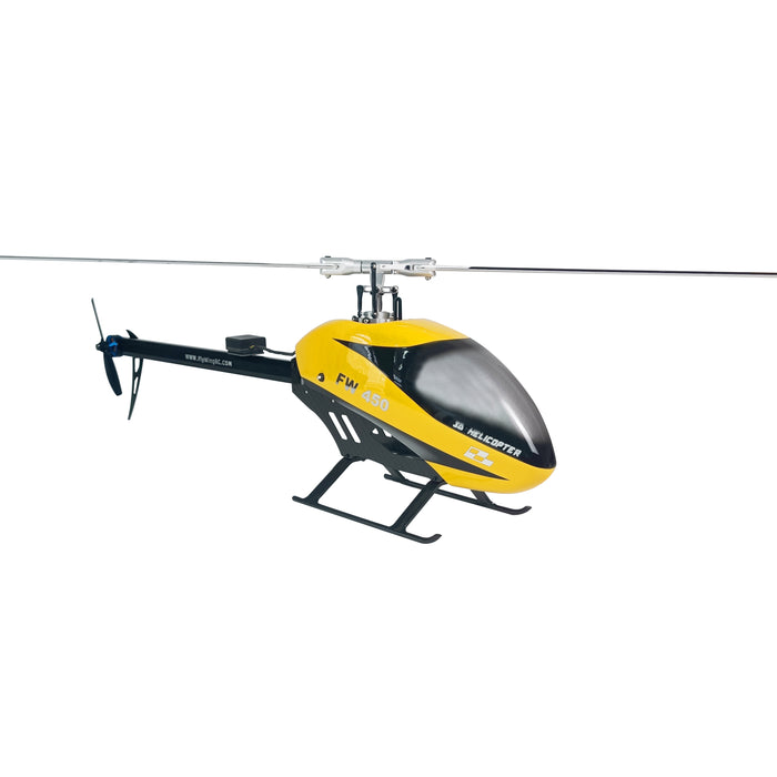 Fly Wing FW450L V2 Version 3D 6CH RC Smart Helicopter FW450L 2.4Ghz Almost RTF Assembled RC Helicopter BNF/RTR version