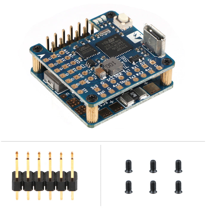 Matek Flight Controller F411-WSE F4 FC Built-in OSD BEC Camera Switcher Mounting 24 x 24mm for FPV Racing Drone