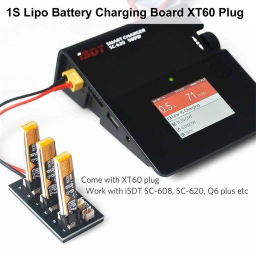 Crazepony LiPo Battery Charging Board Tiny Whoop XT60 Plug Charging Plate with Banana Connector Cable
