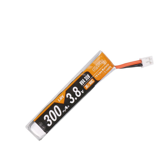 Crazepony 6pcs 300mah 1S HV 3.8V Lipo Battery 30C JST-PH 2.0 25mm Cable
