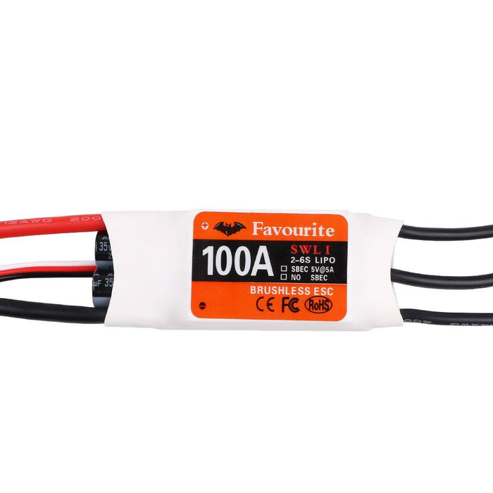Favourite FVT Swallow Series 100A 2-6S Brushless ESC With 5V 5A SBEC For RC Airplane