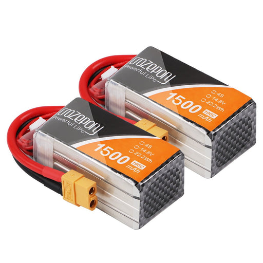 2pcs Crazepony 1500mAh 4S 100C LiPo Battery 14.8V with XT60 Plug