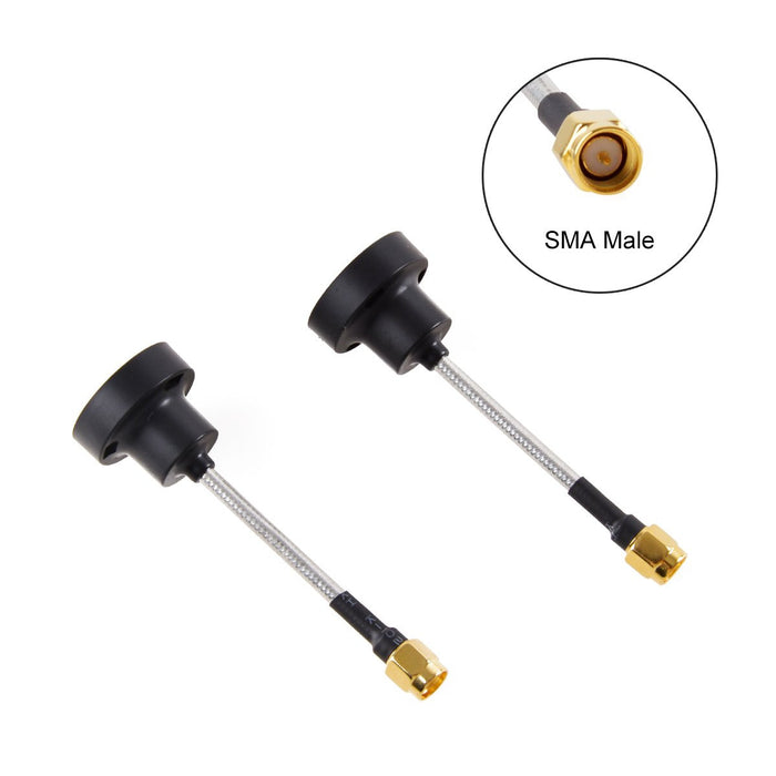 2pcs 5.8GHz FPV Pagoda Antenna SMA Male Polarized TX RX RHCP Black for FPV Racing Drone Multicopter
