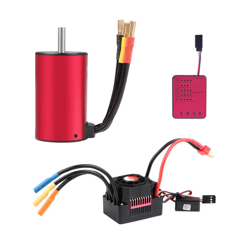 3660 2600KV Sensorless Brushless Motor with 60A ESC Electronic Speed Controller  Programming Card