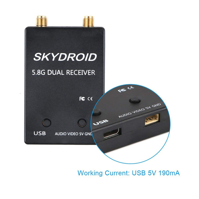 SKYDROID FPV Receiver 5.8G 150CH OTG FPV Receiver Double Antenna  for Smart Android Phone PC Monitor