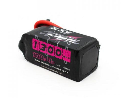 CNHL BLACK SERIES 1300MAH 14.8V 4S 100C LIPO BATTERY