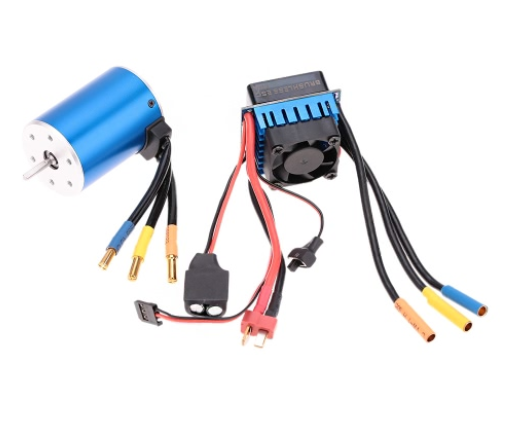 3650 3100KV Sensorless Brushless Motor and 60A ESC Speed Controller 3.175mm Shaft