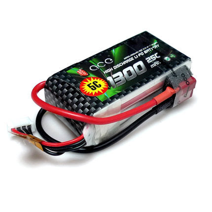 Gens Ace 1300mAh 25C 11.1v 3S  LiPo Battery