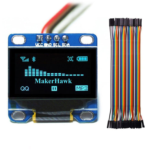 I2c IIC Serial Oled LCD LED Blue Display Module Dupont Wires 20CM Female to Female